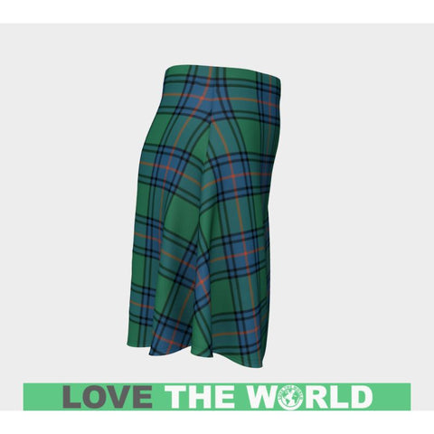 Tartan Skirt - Shaw Ancient Women Flared Skirt A9 |Clothing| 1sttheworld