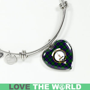 Shaw Modern Tartan Silver Bangle - BN