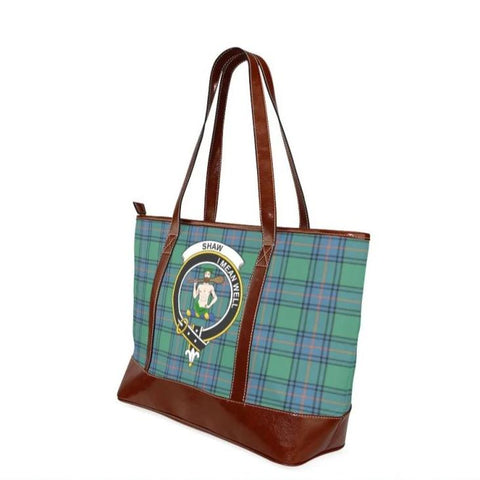Shaw Of Sauchie Tartan Clan Badge Tote Handbag Hj4 Handbags