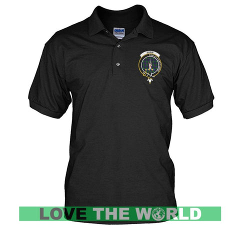 Shaw (Of Tordarroch) Badge Men Tartan Polo Shirt | Over 300 Clans Tartan | Special Custom Design | Love Scotland