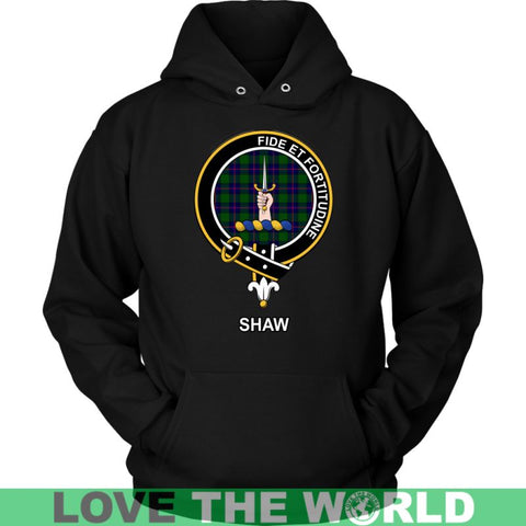 Shaw (Of Tordarroch) Clan Tartan Shirt A2 Gildan Long Sleeve Tee / Black S T-Shirts