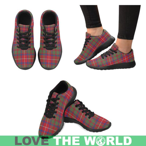 Shaw Red Modern Tartan Running Shoes Hj4 Us6 / Shaw Red Modern White Womens Running Shoes (Model