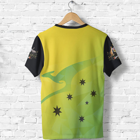 Australia T Shirt Kangaroo Cricket Style back