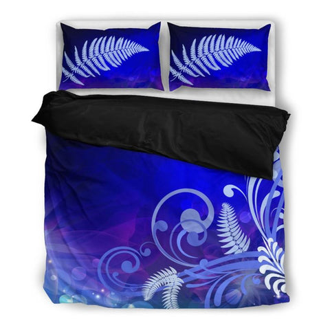 Silver Fern Bedding Set 002 Bedding Set - Black / Twin Sets
