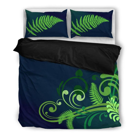 Image of Silver Fern Bedding Set 01 Bedding Set - Black / Twin Sets