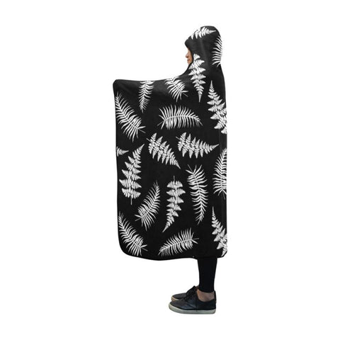 Silver Fern Hooded Blanket H4 One Size / Silver Fern Hooded Blanket 60X50 Blankets
