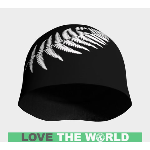 Image of Silver Fern With Heart Beanie D7 Beanies