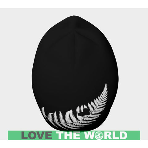 Silver Fern With Heart Beanie D7 Beanies