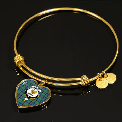 Image of Sinclair Hunting Ancient Tartan Golden Bangle - Bn Adjustable Bangle Jewelries