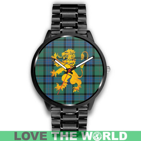 Sinclair Hunting Ancient Tartan Lion Leather/Steel Watch - Bn |Men and Women| 1sttheworld