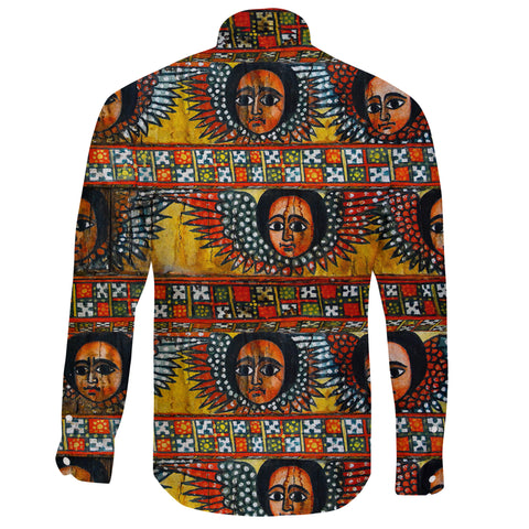 Ethiopia Long Sleeve Shirt Debre Birhan Selassie Church Pattern