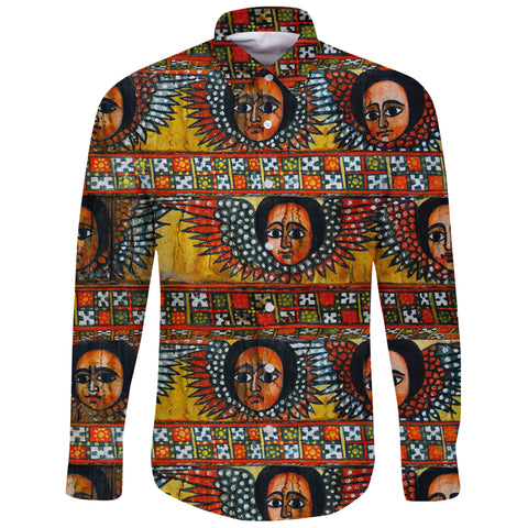 Image of Ethiopia Long Sleeve Shirt Debre Birhan Selassie Church Pattern