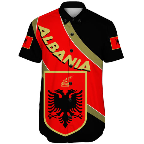 Image of Albania Short Sleeve Shirt - Special Flag
