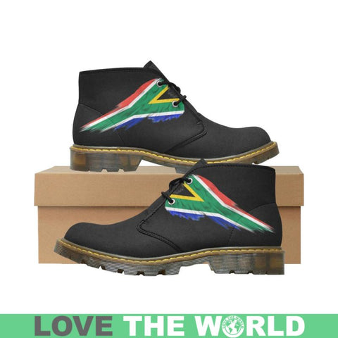 South Africa (Mens/womens) Nubuck Chukka Boots A5 South Africa Flag Wing 01 Mens (Model 2402) / Us7