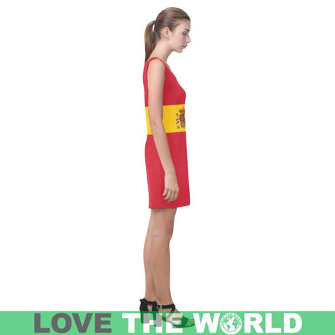 Spain Flag Medea Vest Dress A3 Dresses