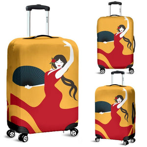 Spain Flamenco Dancer Luggage Cover A1 Covers