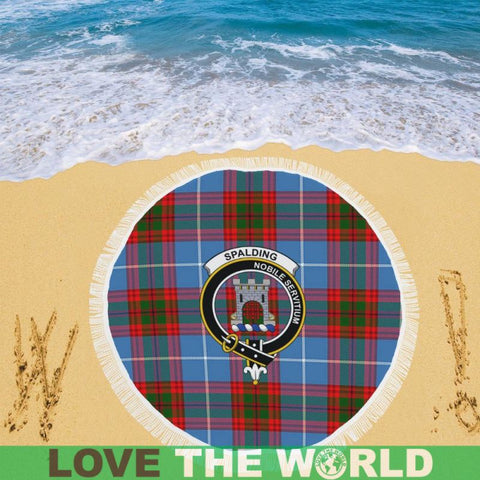 Image of Spalding Clan Badge Tartan Circular Shawl C11 Shawls