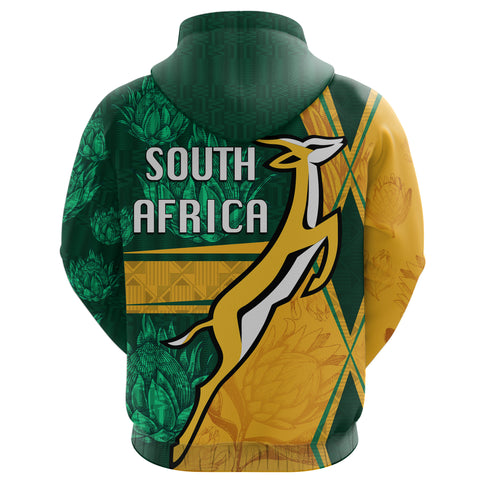 South Africa Zip Hoodie Springboks Rugby Be Fancy K8