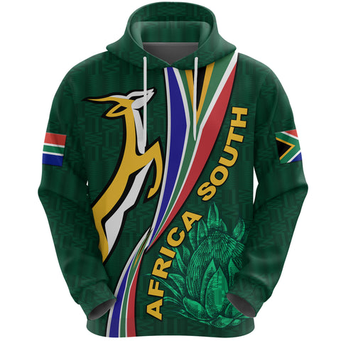 South Africa Hoodie Springboks Rugby Be Unique - Green