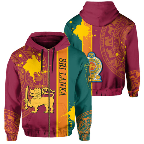 Sri Lanka Spirit Zip Hoodie | Clothing | 1sttheworld.com