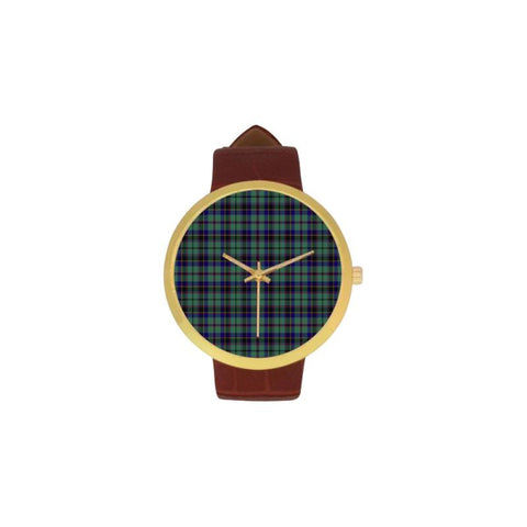 Stevenson Tartan Watch S7 One Size / Golden Leather Strap Watch Luxury Watches