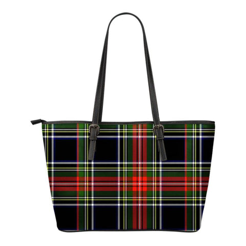 Stewart Black Ancient  Tartan Handbag - Tartan Small Leather Tote Bag Nn5 |Bags| Love The World