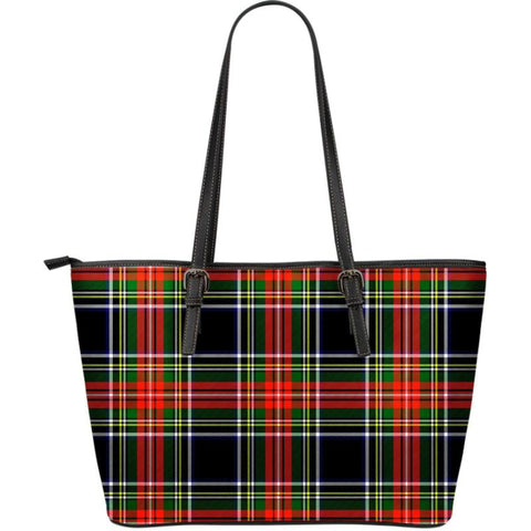 Stewart Black Tartan Handbag - Large Leather Tartan Bag Th8 |Bags| Love The World