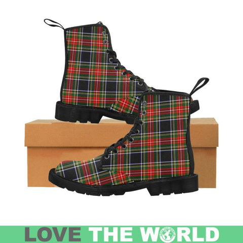 Image of Stewart Black Tartan Martin Boots | Scotland Boots | Over 500 Tartans