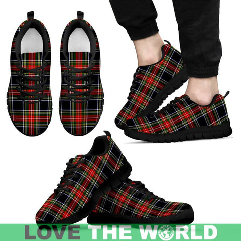 Image of Stewart Black Tartan Sneakers - Bn Mens Sneakers White 1 / Us5 (Eu38)