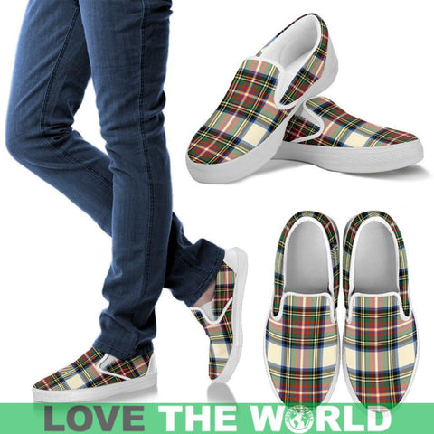 Stewart Dress Ancient Tartan Slip Ons Womens Slip Ons - White / Us6 (Eu36)