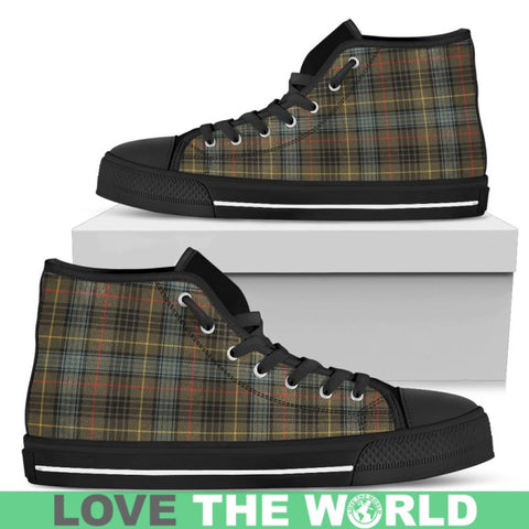 Stewart Hunting Weathered Tartan Canvas Shoes Mens - Black 1 / Us5 (Eu38)