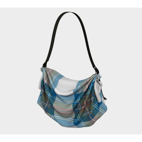Stewart Muted Blue Tartan Origami Tote H5 Bags