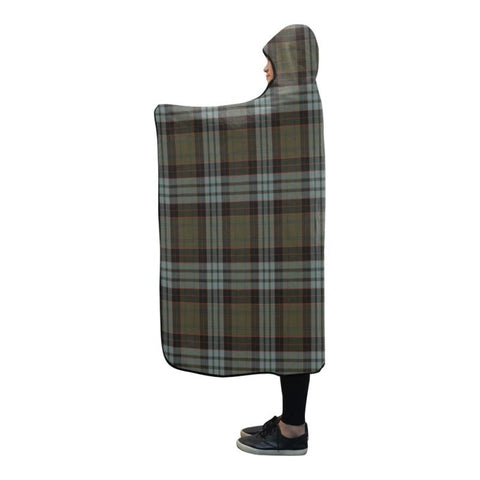 Stewart Old Weathered Tartan Hooded Blanket - M One Size / Stewart Old Weathered Hooded Blanket