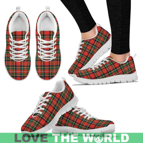 Image of Stewart Royal Modern 1 Tartan Sneakers - Bn Mens Sneakers White / Us5 (Eu38)