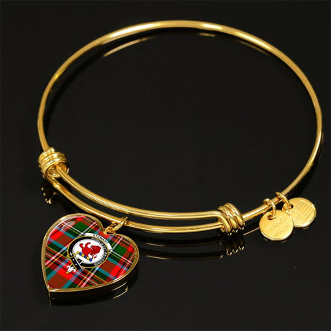 Stewart Royal Modern Tartan Golden Bangle -Tn Adjustable Bangle Jewelries