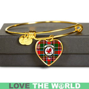 Stewart Royal Modern Tartan Golden Bangle -Tn