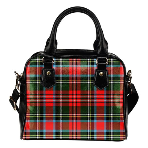 Tartan Shoulder Handbag - Stewart Royal Modern