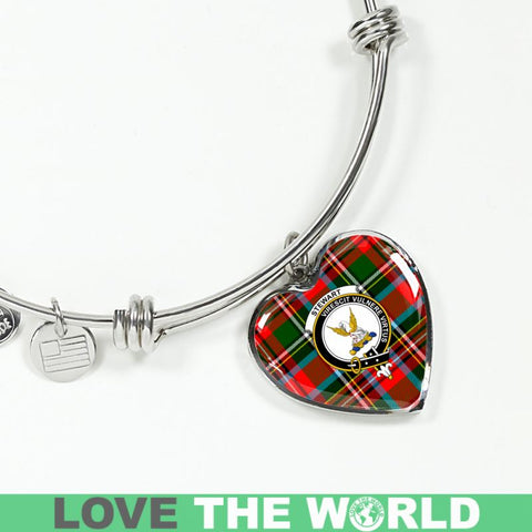 Stewart Royal Modern Tartan Silver Bangle - Sd1 Luxury Bangle (Silver) Jewelries