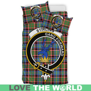 Stirling (Of Cadder-Present Chief) Clan Badge Tartan Bedding Set K7
