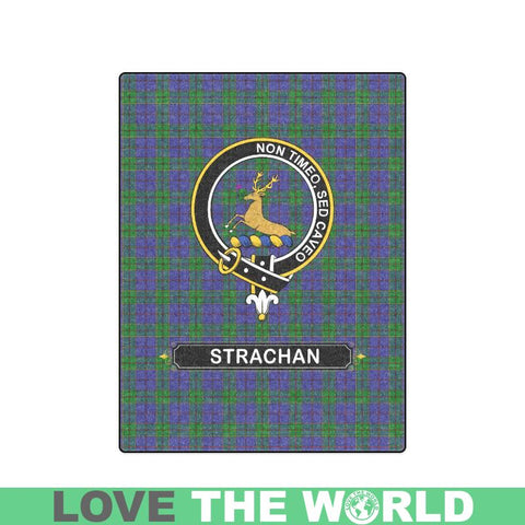 Strachan Tartan Blanket | Clan Crest | Shop Home Decor