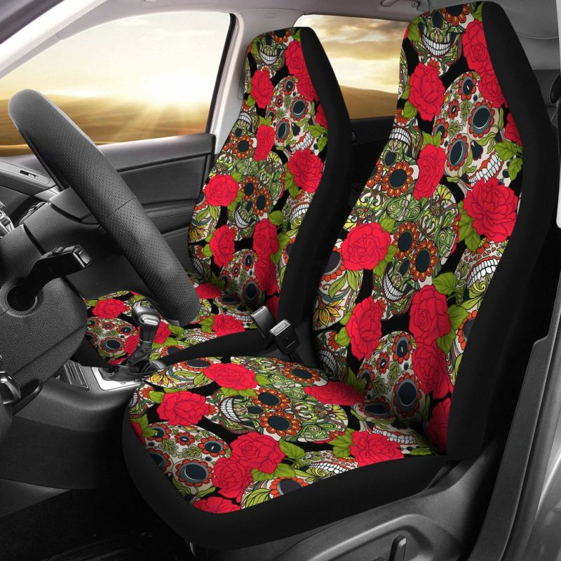 Sugar Skull Car Seat Covers 01 N1 Tap To Expand