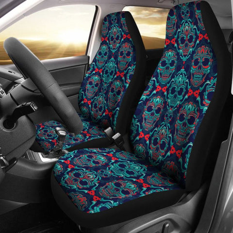 Image Of Sugar Skull Car Seat Covers 05 N1