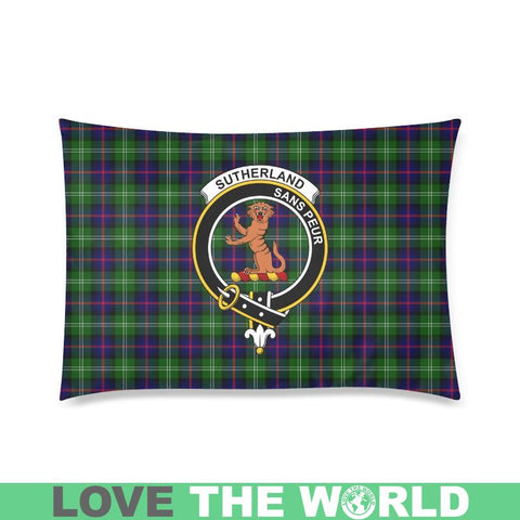Image of Sutherland I Tartan Clan Badge Rectangle Pillow Hj4 One Size / Sutherland Custom Pillow Case 20X 30
