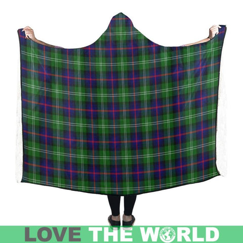 Image of Sutherland Modern Tartan Hooded Blanket - Bn | Love The World