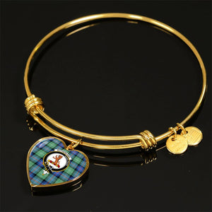 Sutherland Old Ancient Tartan Golden Bangle - Bn Adjustable Bangle Jewelries