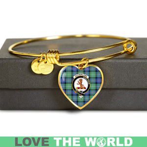 Sutherland Old Ancient Tartan Golden Bangle - BN