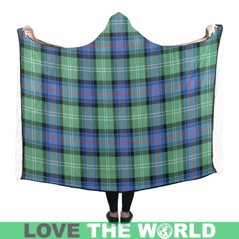 Image of Sutherland Old Ancient Tartan Hooded Blanket - Bn | Love The World