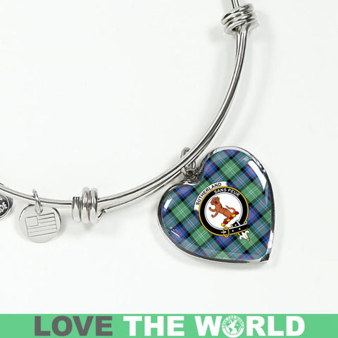 Sutherland Old Ancient Tartan Silver Bangle - Sd1 Luxury Bangle (Silver) Jewelries