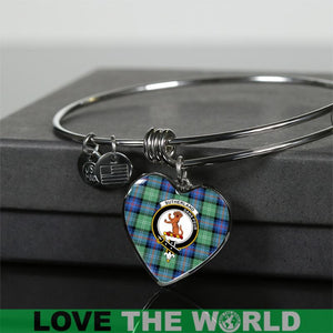 Sutherland Old Ancient Tartan Silver Bangle - BN