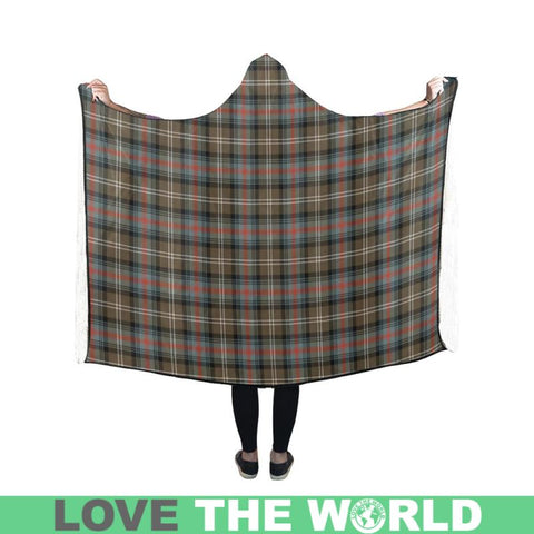 Sutherland Weathered Tartan Hooded Blanket - Bn | Love The World